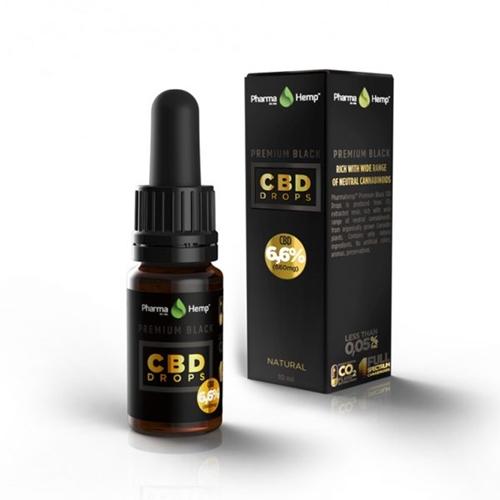 PharmaHemp CBDオイル 6.6%(660mg)CBD OIL DROP PREMIUM BLACK 10ml / プレミアムブラック
