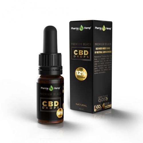 PharmaHemp CBDオイル 12%(1200mg)CBD OIL DROP PREMIUM BLACK 10ml / プレミアムブラック